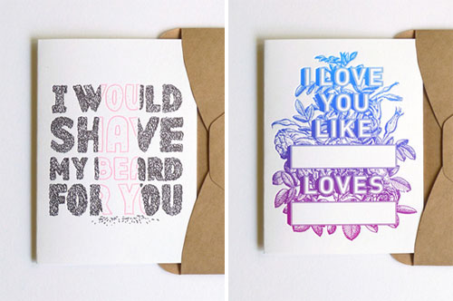 Letterpress Valentine's Day Cards The Hungry Workshop