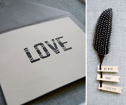 In Haus Press Letterpress Love Cards
