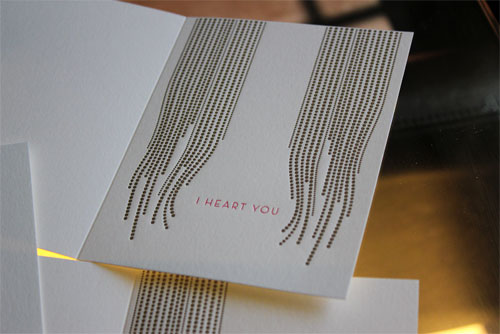 Kamal I Heart You Letterpress Card