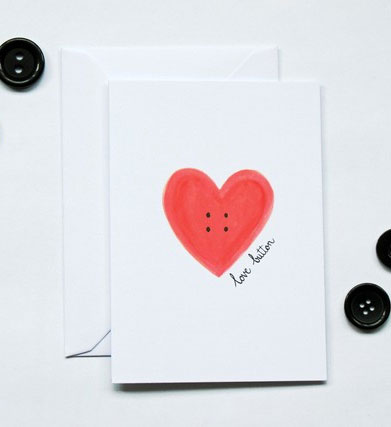 Krafty Fox Love Button Cards