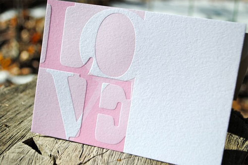 Letterpress Love Notes