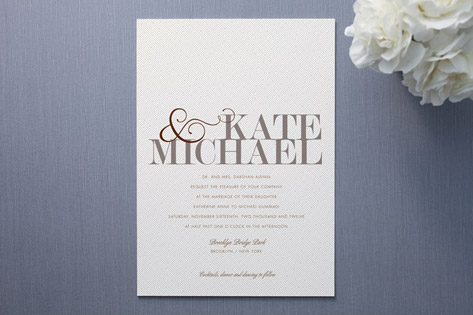 Modern Tweed Wedding Invitations