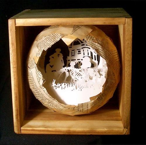 Molly Bosley Paper Cut Diorama