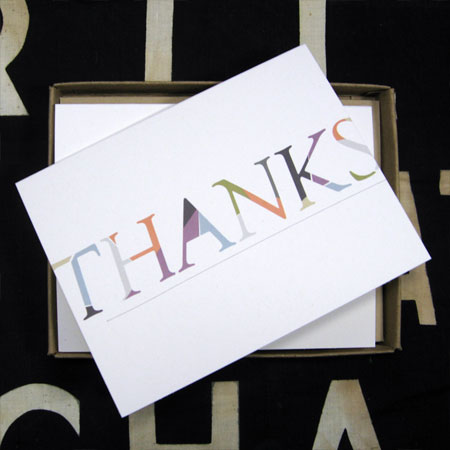 Thank You Card Mulberry and Moss