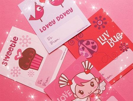 Paper Glitter Valentine Kit