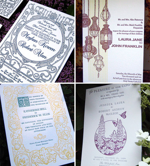 Papillon Letterpress Wedding Invitations