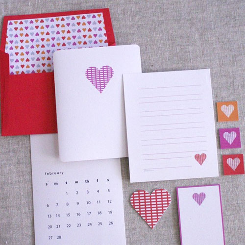 Printable Valentine's Day Stationery