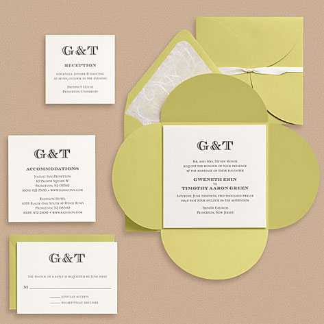 Paper Source Escorial Monogram Wedding Invitations