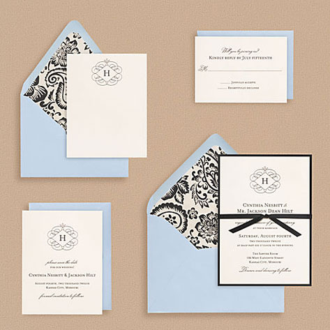 Paper Source Flourish Monogram Wedding Invitations