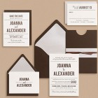 Paper Source Playbill Wedding Invitations (Brown)