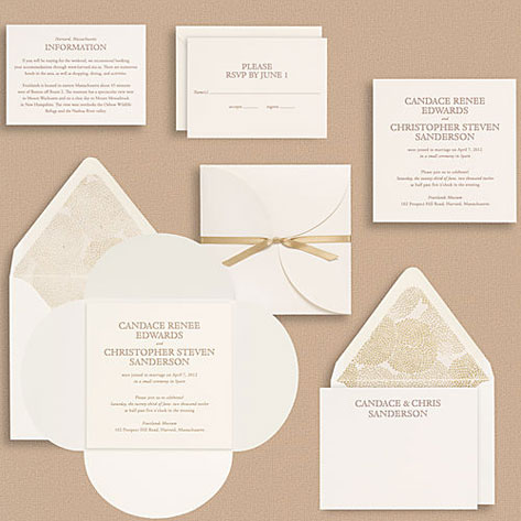 Paper Source Upper Case Cloister Wedding Invitations