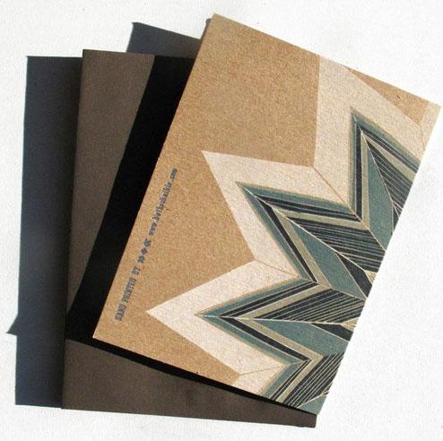 Ragamuffin Press Blue Star Letterpress Card