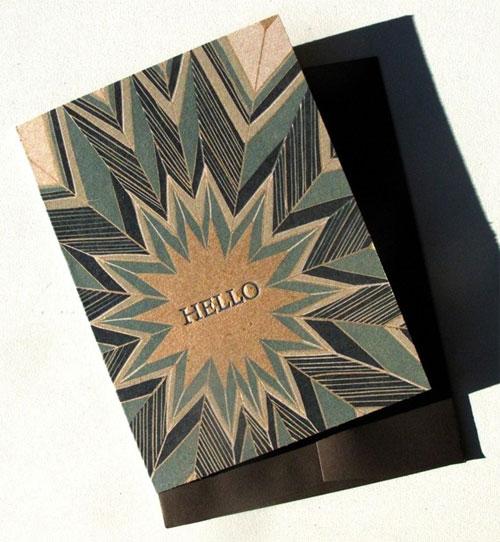 Hello Letterpress Card Ragamuffin Press
