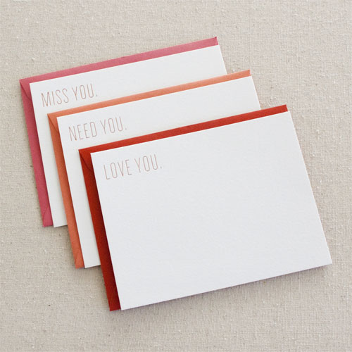 Gold Foil Stamped Cards by Seesaw Letterpress