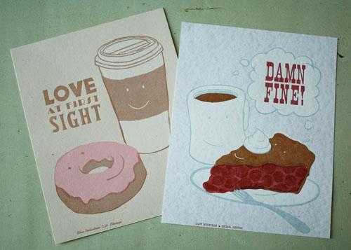 Letterpress Linocut Prints by Slow Industries