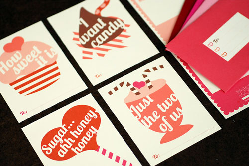 Three Little Words Valentine's Day Cards