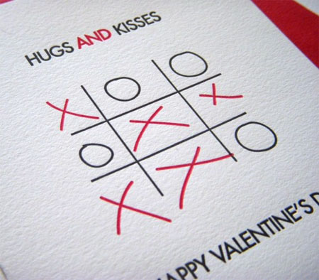 Hugs and Kisses Letterpress Card