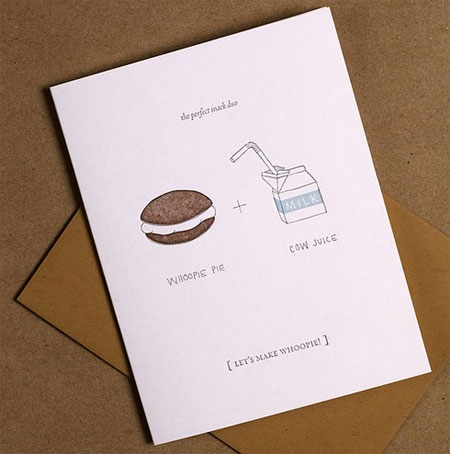 Letterpress Let's Make Whoopie Valentine Cards