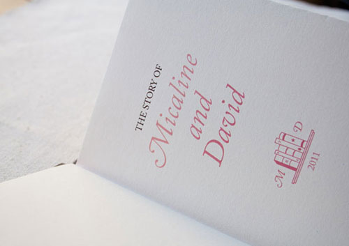 Micaline and David's Wedding Invitations