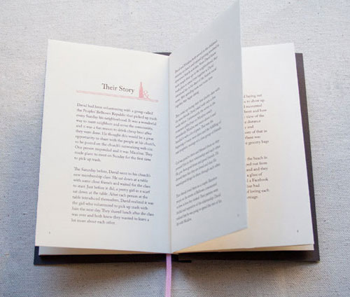 The Storybook Wedding Invites The clever letterpress bookmark save the