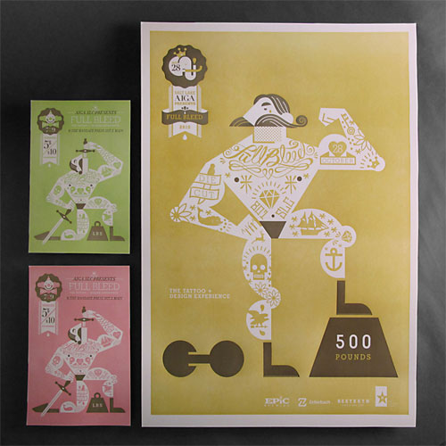 Tattoo Letterpress Posters