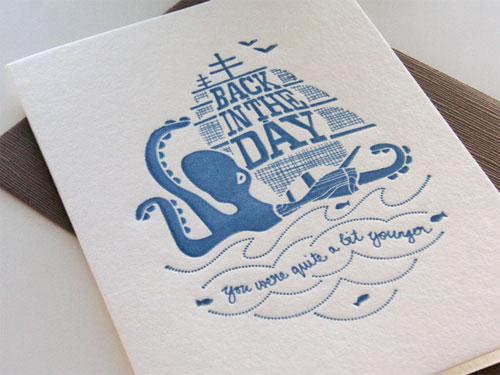 letterpress birthday card - Letterpress Greeting Cards