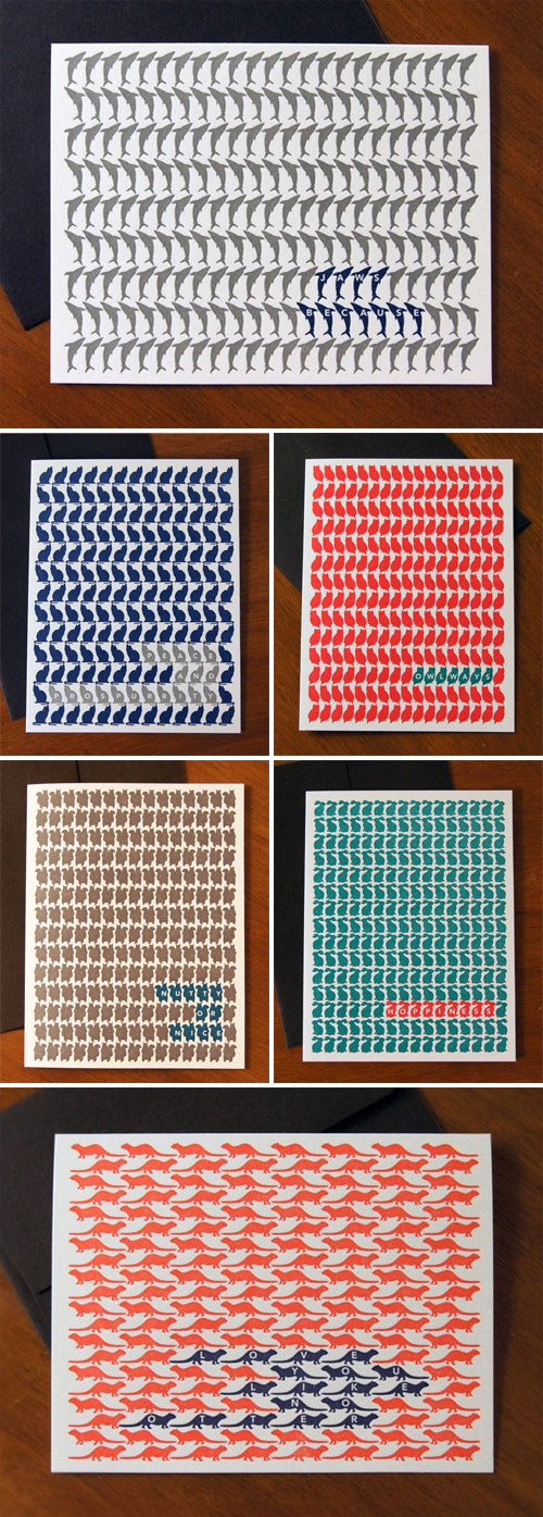 Letterpress Animal Cards by Smile Lifestyle