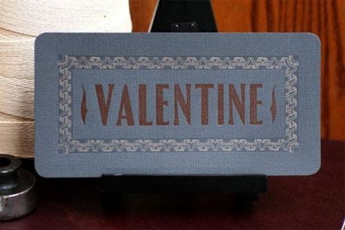 Starshaped Press Valentine