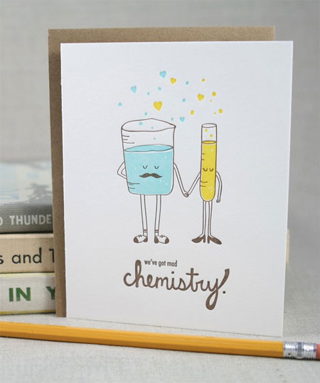Valentines Day Card Roundup Part 8 Paper Crave – Chemistry Valentines Day Card