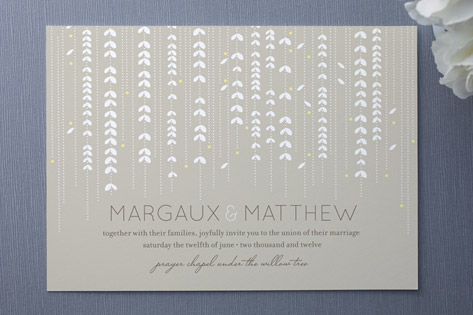 Willow Tree Wedding Invitations Organic willow tree branch illustrations