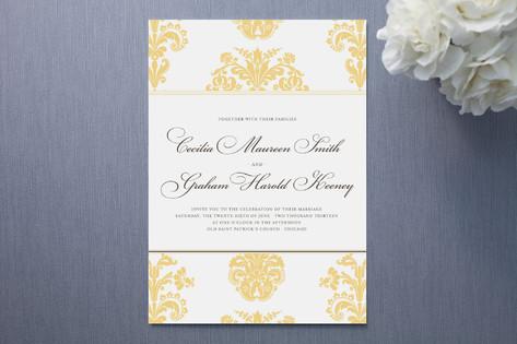 Float Paperie Brocade Wedding Invitations