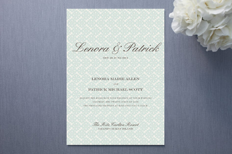 Float Paperie Established Wedding Invitations