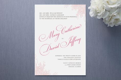 Float Paperie Amour Wedding Invitations