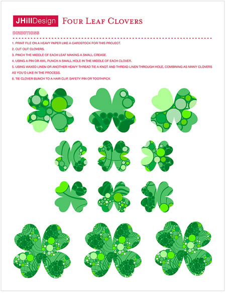 picture relating to 4 Leaf Clover Printable known as St. Patricks Working day Printables - Paper Crave