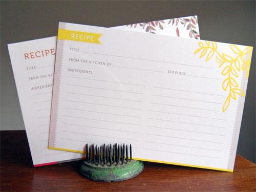 Gait Design Recipe Cards