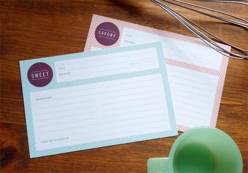 Sweet & Savory Recipe Cards
