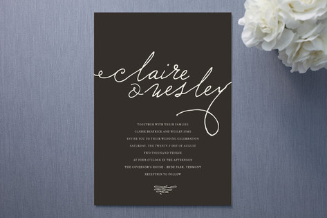 These playfully modern wedding invites by Annie Clark for Minted feature the