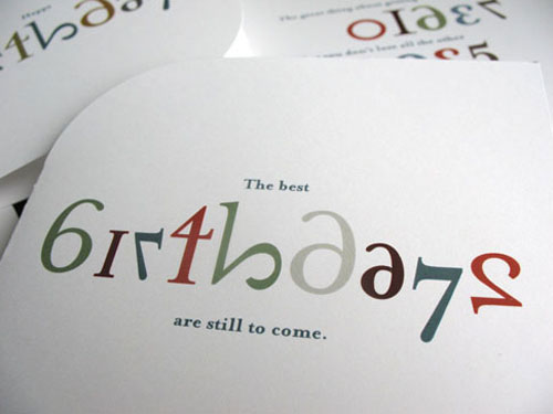 Die Cut Number Birthday Cards