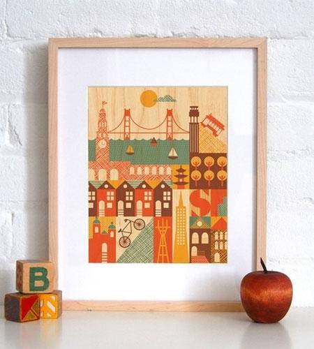 San Francisco Veneer Print