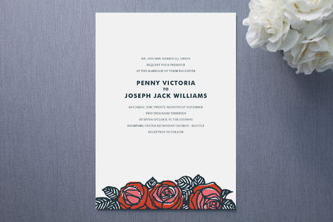 Stacey Day Rose Chic Wedding Invitations