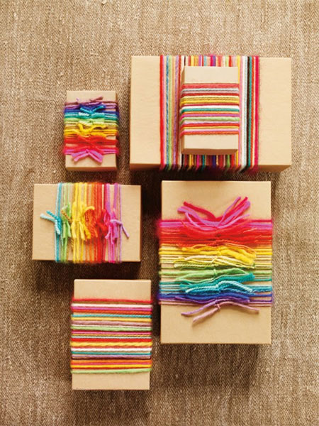 Rainbow Yarn Gift Embellishments