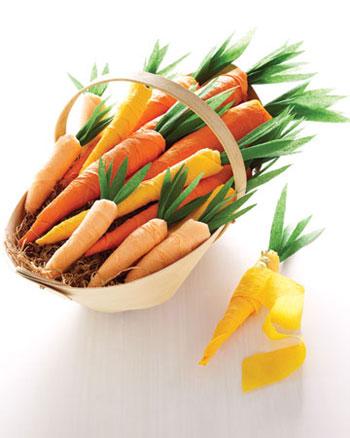 Crepe Paper Carrots Martha Stewart