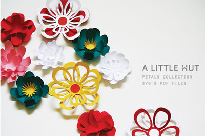 Paper Flowers SVG Petals Collection