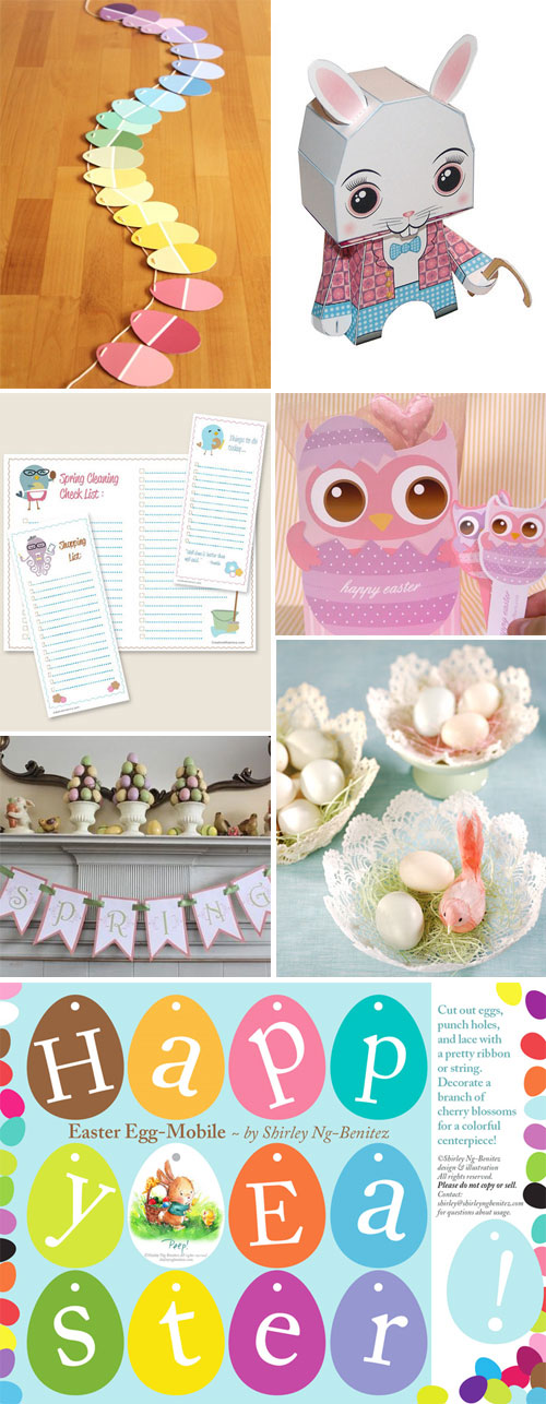Easter Paper Crafts Printables