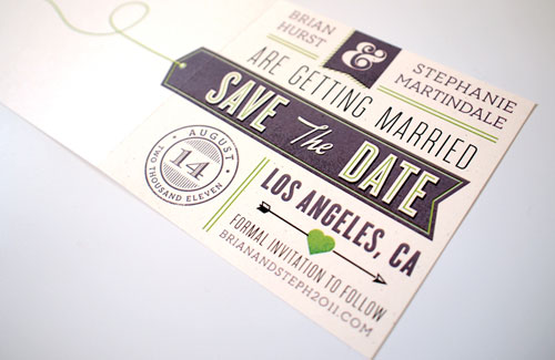 Playful Mid Century Save the Dates