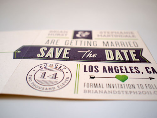 Mid Century Typographic Save the Dates
