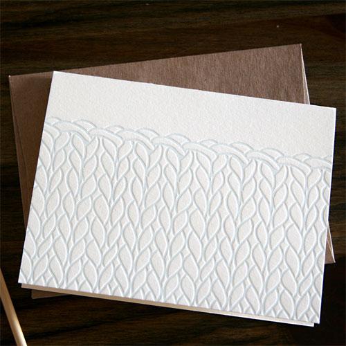 Letterpress Knit Card