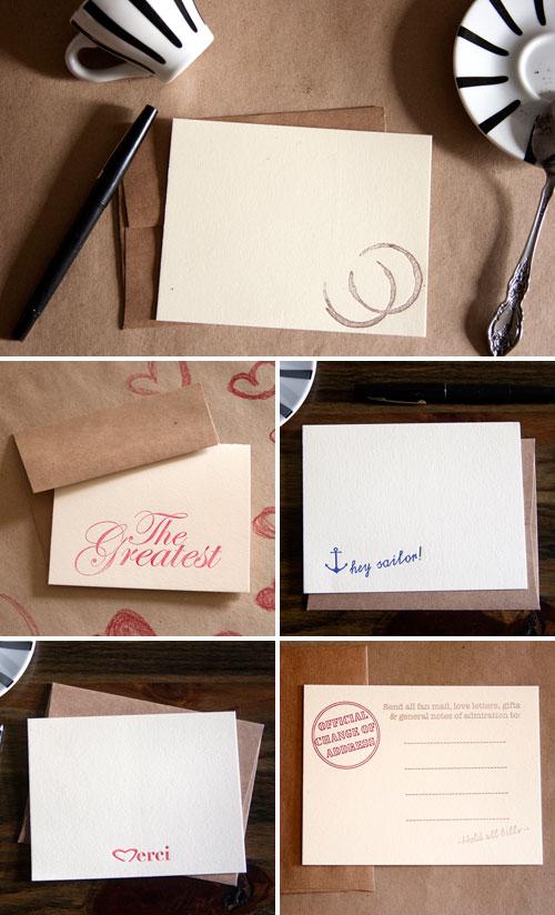 Papersheep Letterpress Cards