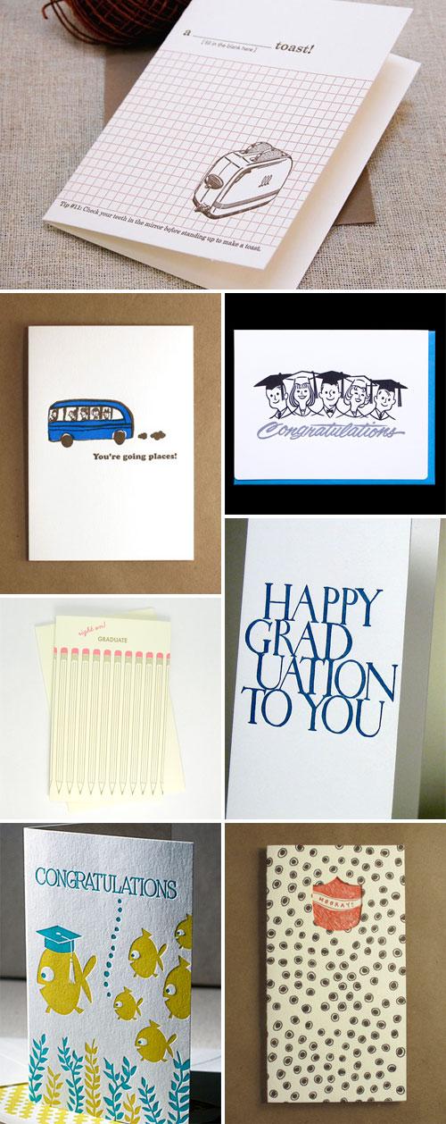 Graduation Cards Letterpress