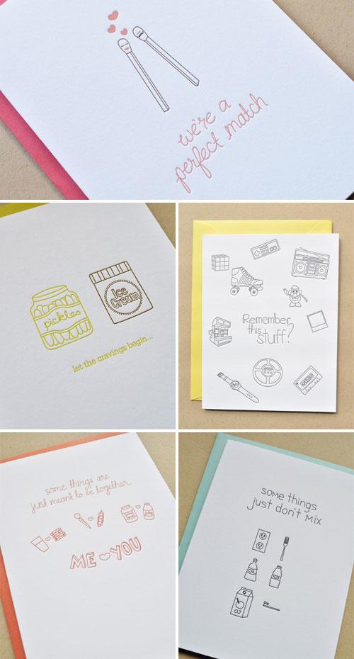 Letterpress Cards by Impressed Design